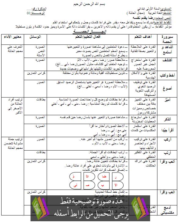 مذكرات اللغة العربية للسنة الاولى ابتدائي arabic.png