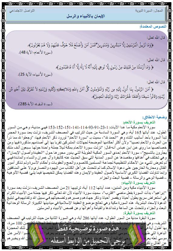 درس التربية الإسلامية الإيمان بالأنبياء والرسل alanbia-wa-rosol.png