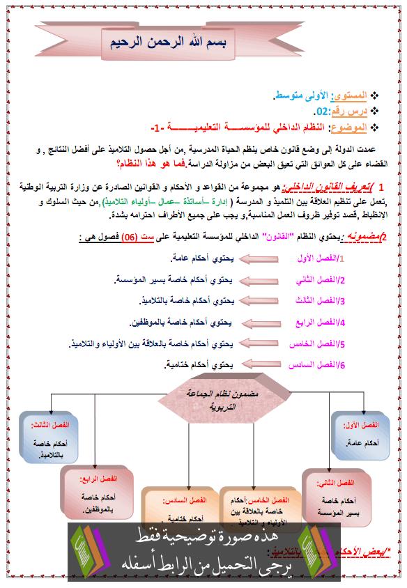 درس التربية المدنية المؤسسة التعليمية النظام الداخلي anidam-adakhili.png