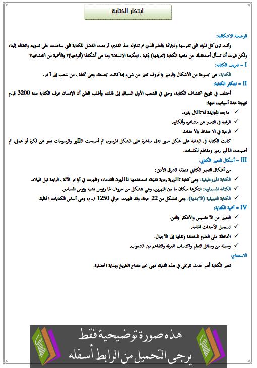 درس التاريخ فجر التاريخ في الشرق الأدنى ابتكار الكتابة ibtikar-alkitaba.png