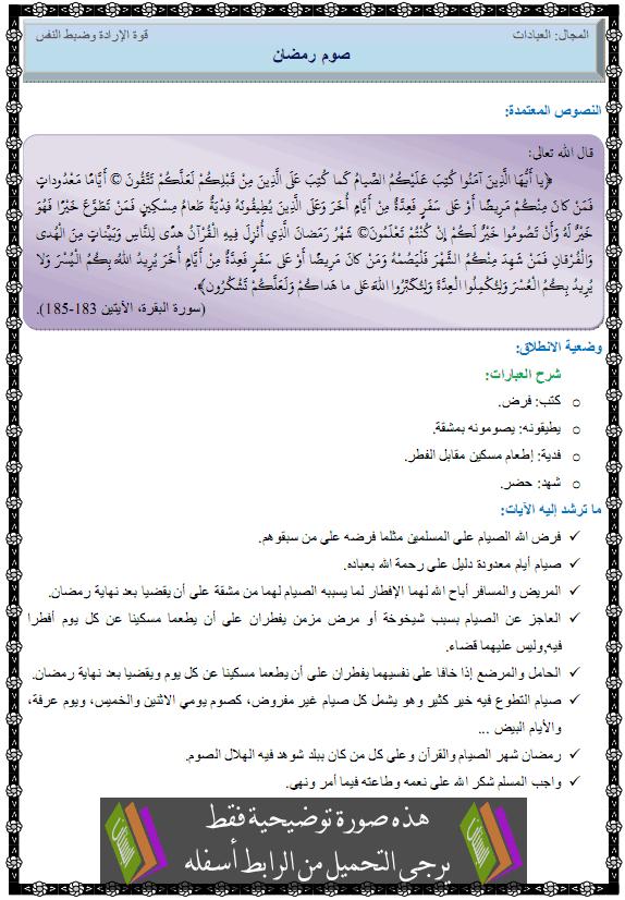 درس التربية الإسلامية صوم رمضان الثانية متوسط sawm-ramadan.png