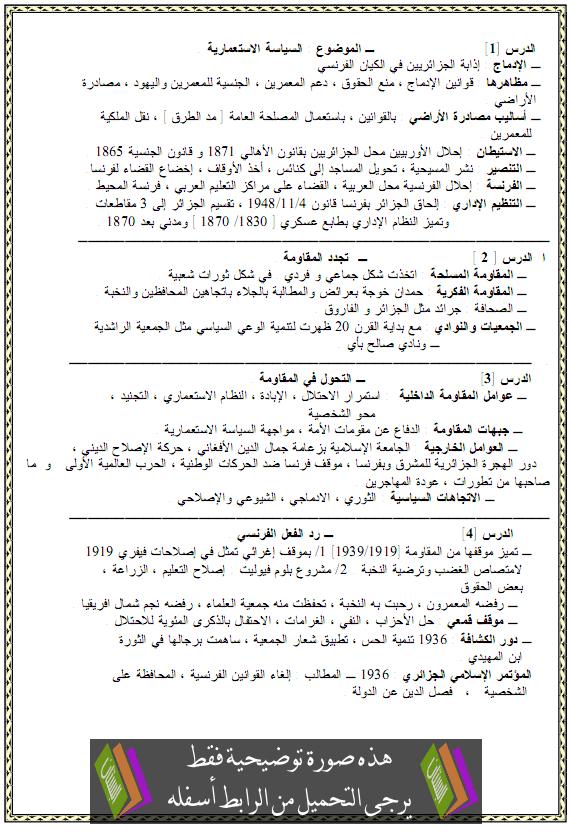 ملخصات دروس التاريخ للسنة الرابعة متوسط atarikh.png