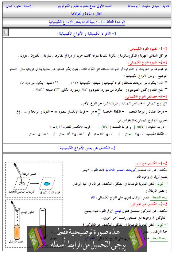 درس العلوم الفيزيائية بنية أفراد بعض الأنواع الكيميائية biniat-afrad.png