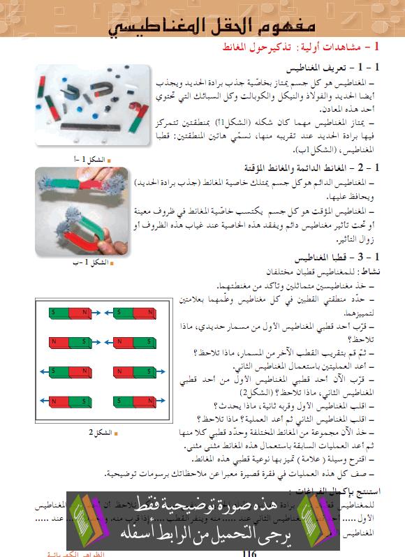 درس العلوم الفيزيائية مفهوم الحقل المغناطيسي الثانية ثانوي mafhom-alhakl-almigh
